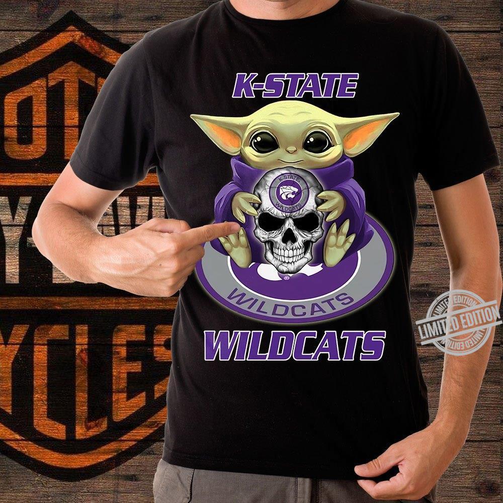 Baby Yoda And K-State Wildcats Shirt