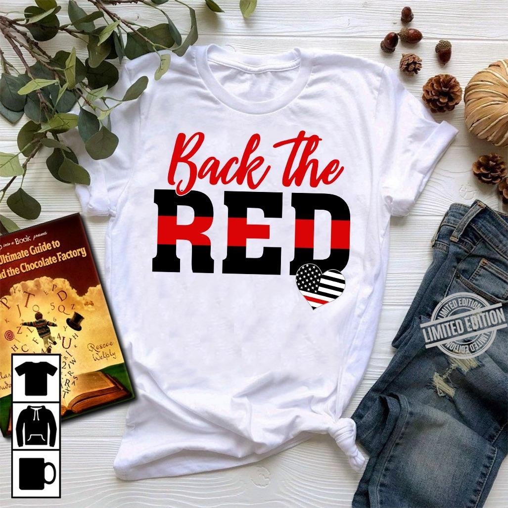 Back The Red Flag Heart Shirt
