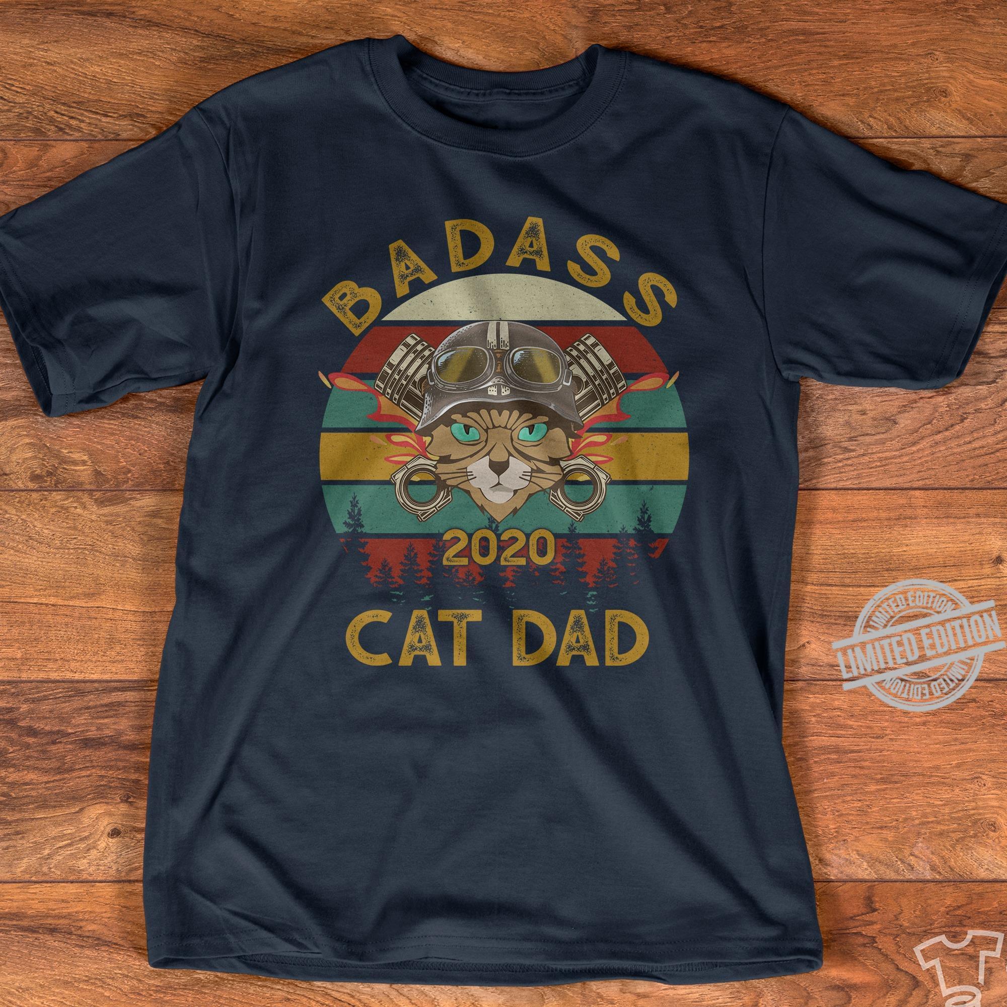 Badass 2020 Cat Dad Shirt