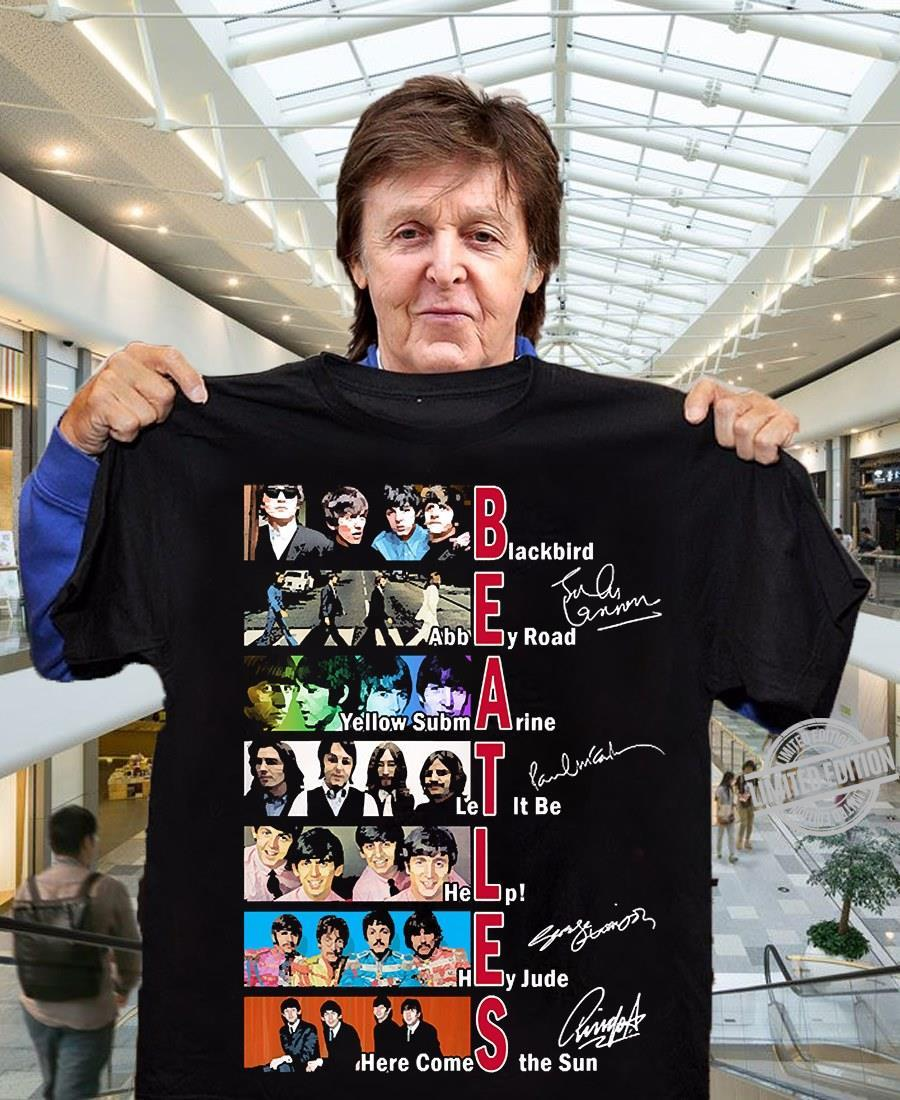 Beatles Blackbird Abbey Road Yellow Submarine Let It Be Help Hey Jude Here Comes The Sun Shirt